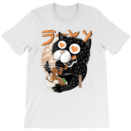 Cat  Love Ramen T-shirt Designed By Quilimo