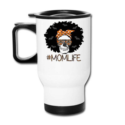 Afro Halloween Mom Travel Mug Designed By Badaudesign