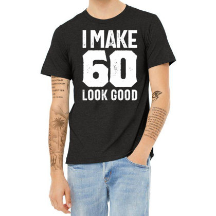 60 Years Old Gift | 60th Birthday Gift Ideas - Mens And Womens Heather T-shirt Designed By Cidolopez