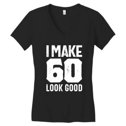 60 Years Old Gift | 60th Birthday Gift Ideas - Mens And Womens Women's V-neck T-shirt Designed By Cidolopez