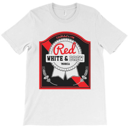 Red White And Brew T-shirt Designed By Sam Soe