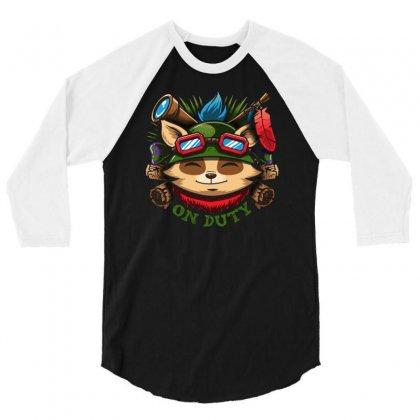 Teemo On Duty 3/4 Sleeve Shirt Designed By Mdk Art