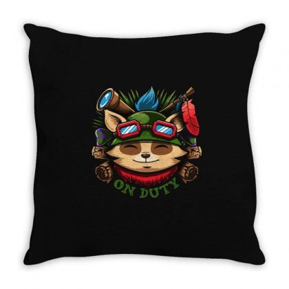 Teemo On Duty Throw Pillow Designed By Mdk Art