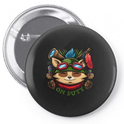 Teemo On Duty Pin-back Button Designed By Mdk Art