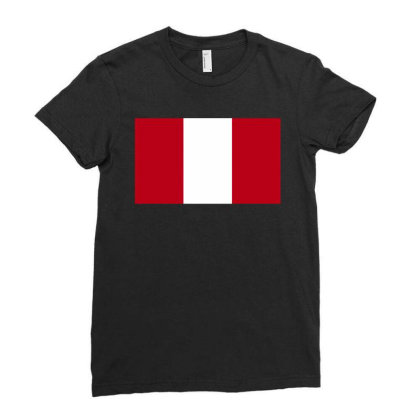 Austria Flag Ladies Fitted T-shirt Designed By Sengul