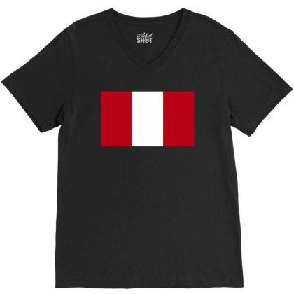Austria Flag V-neck Tee Designed By Sengul