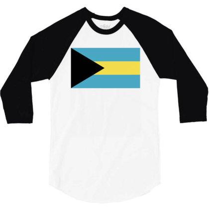 Bahamas Flag 3/4 Sleeve Shirt Designed By Sengul
