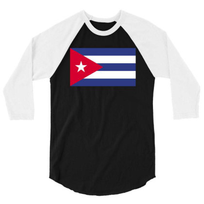 Caribbean Flag 3/4 Sleeve Shirt Designed By Sengul