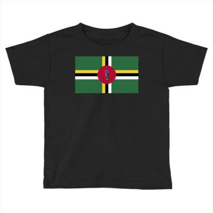 Dominica Flag Toddler T-shirt Designed By Sengul