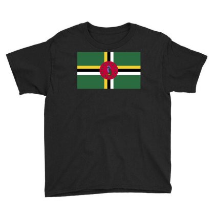 Dominica Flag Youth Tee Designed By Sengul