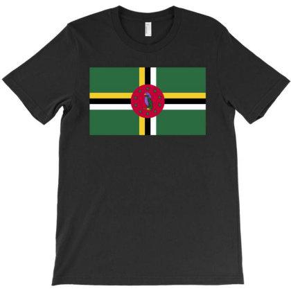 Dominica Flag T-shirt Designed By Sengul