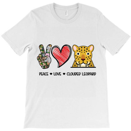 Peace Love Clouded Leopard T-shirt Designed By Hoainv