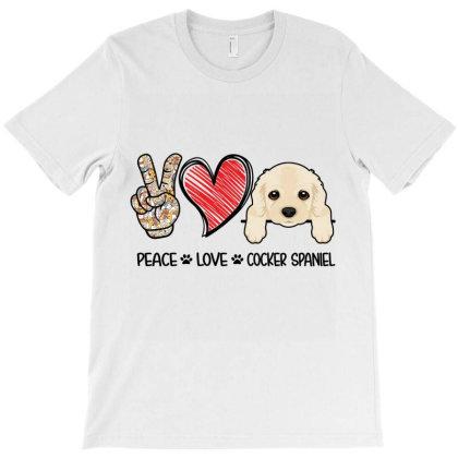 Peace Love Cocker Spaniel T-shirt Designed By Hoainv