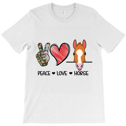 Peace Love Horse T-shirt Designed By Hoainv