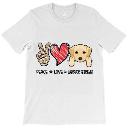 Peace Love Labrador Retriever T-shirt Designed By Hoainv