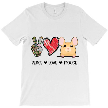 Peace Love Mouse T-shirt Designed By Hoainv