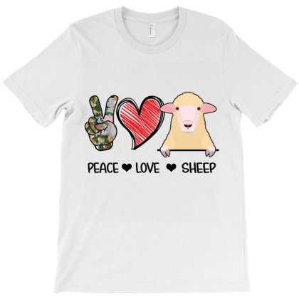 Peace Love Sheep T-shirt Designed By Hoainv