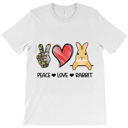 Peace Love Rabbit T-shirt Designed By Hoainv