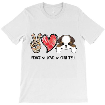 Peace Love Shih Tzu T-shirt Designed By Hoainv