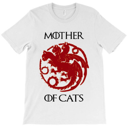 Mother Of Cats For Cat Lover T-shirt Designed By Andromeda