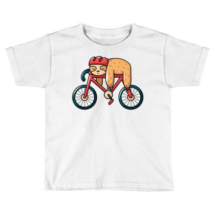 Bike Sloth Toddler T-shirt Designed By Igaart