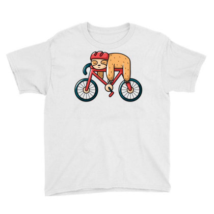 Bike Sloth Youth Tee Designed By Igaart