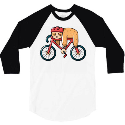 Bike Sloth 3/4 Sleeve Shirt Designed By Igaart