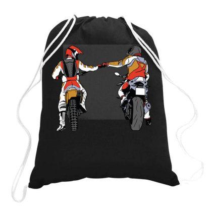 Biker Fist Bump Drawstring Bags Designed By Igaart