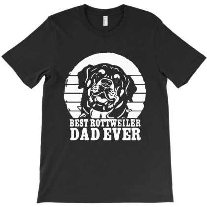 Vintage Best Rottweiler Dad Ever Father's Day T-shirt Designed By Andromeda