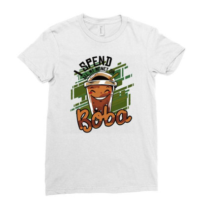 Bubble Tea Ladies Fitted T-shirt Designed By Igaart