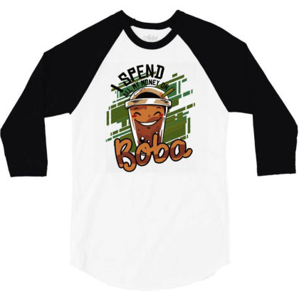 Bubble Tea 3/4 Sleeve Shirt Designed By Igaart