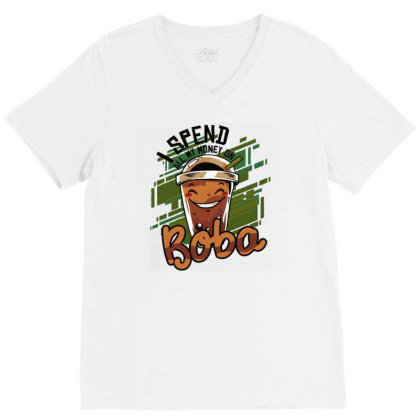 Bubble Tea V-neck Tee Designed By Igaart