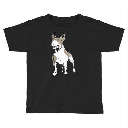 Bull Terrier Toddler T-shirt Designed By Igaart