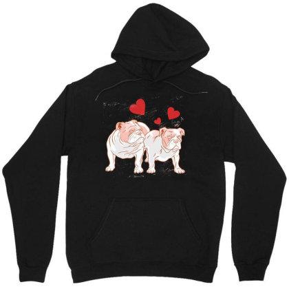 Bulldog Couple Love Unisex Hoodie
