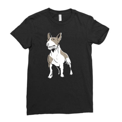 Bull Terrier Ladies Fitted T-shirt Designed By Igaart
