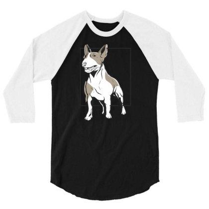 Bull Terrier 3/4 Sleeve Shirt Designed By Igaart