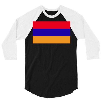 Armenia Flag 3/4 Sleeve Shirt Designed By Sengul