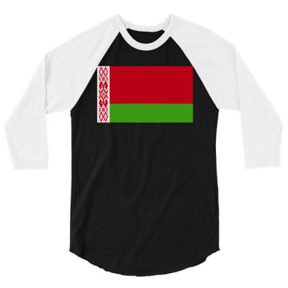 Belarus Flag 3/4 Sleeve Shirt Designed By Sengul