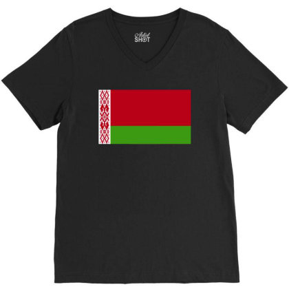 Belarus Flag V-neck Tee Designed By Sengul