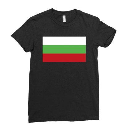 Bulgaria Flag Ladies Fitted T-shirt Designed By Sengul
