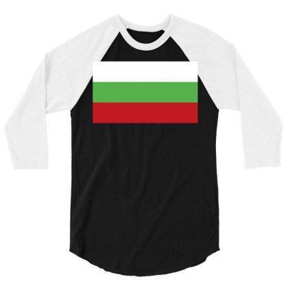 Bulgaria Flag 3/4 Sleeve Shirt Designed By Sengul