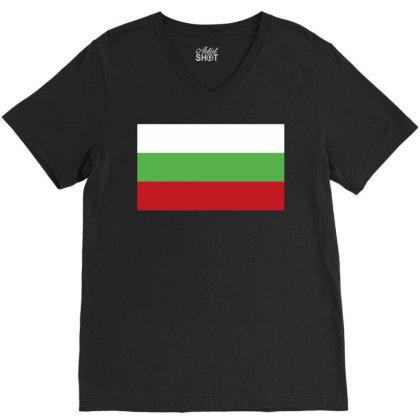 Bulgaria Flag V-neck Tee Designed By Sengul