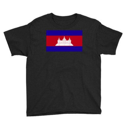 Cambodia Flag Youth Tee Designed By Sengul