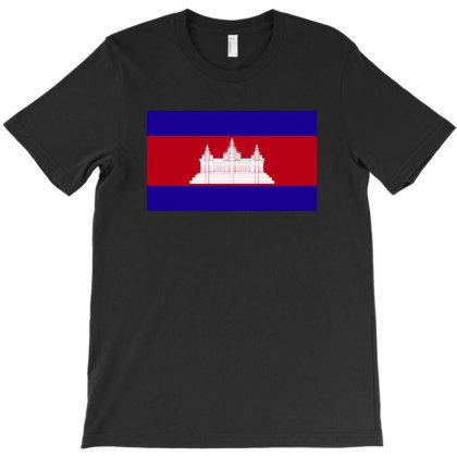 Cambodia Flag T-shirt Designed By Sengul