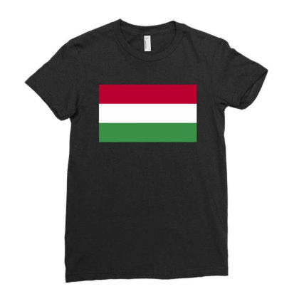 Hungary Flag Ladies Fitted T-shirt Designed By Sengul