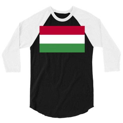 Hungary Flag 3/4 Sleeve Shirt Designed By Sengul