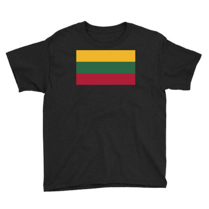 Lithuania Flag Youth Tee Designed By Sengul