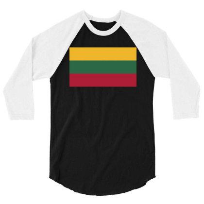 Lithuania Flag 3/4 Sleeve Shirt Designed By Sengul