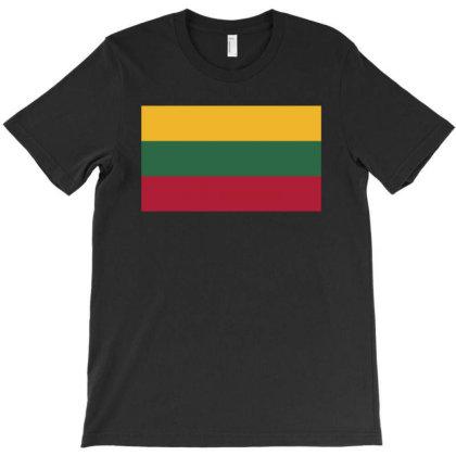 Lithuania Flag T-shirt Designed By Sengul