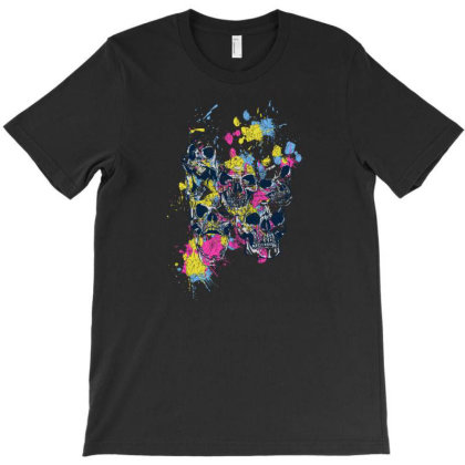Skull Color T-shirt Designed By Beeyou